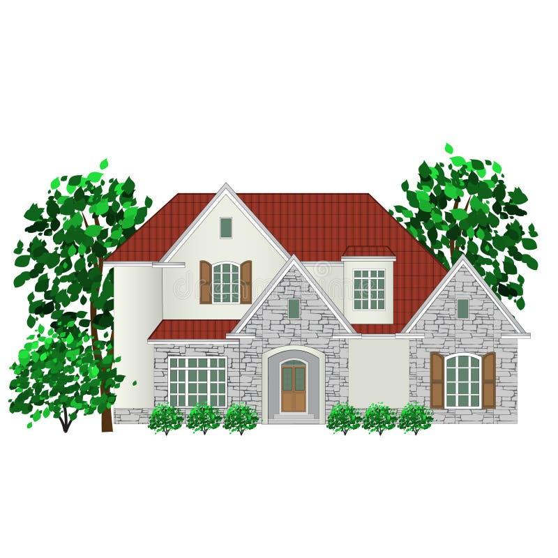 Familienhaus, Illustration stock abbildung