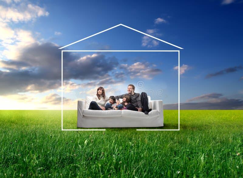 Familienheim lizenzfreies stockfoto