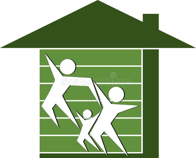Familienheim lizenzfreie abbildung