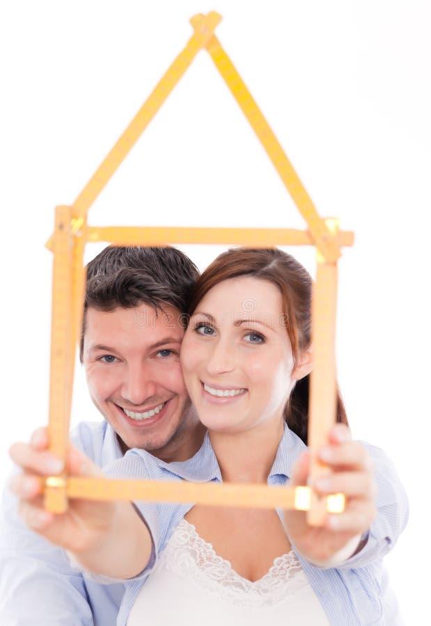 Familienheimplaner lizenzfreies stockfoto