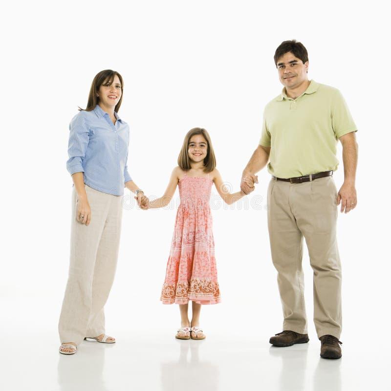 Familienholdinghände. lizenzfreies stockbild