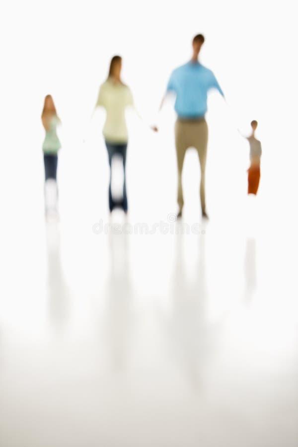 Familienholdinghände. lizenzfreie stockfotos