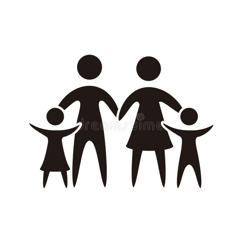 Familienikone stock abbildung