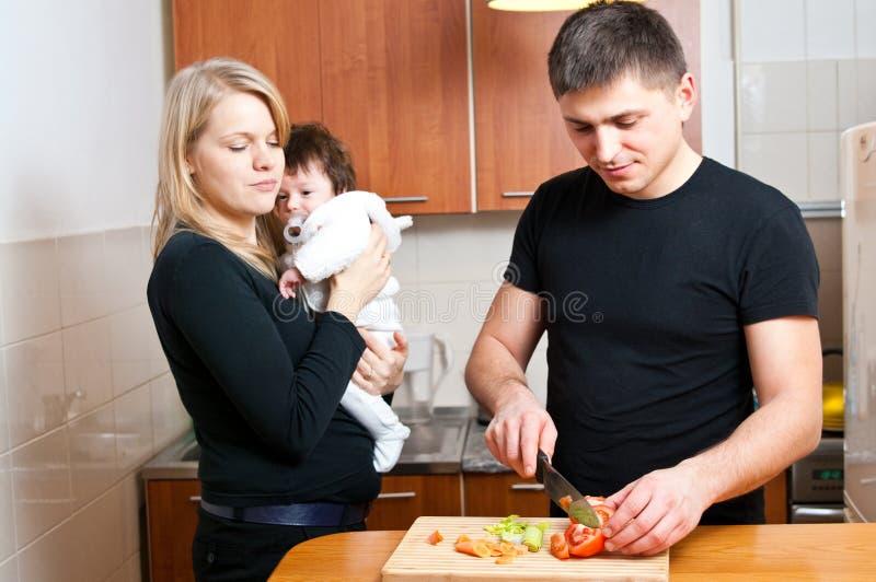 Familienleben stockbild