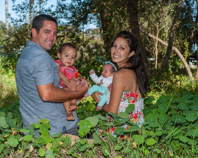 Familienpicknicktag stockbilder
