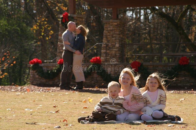 Familienporträt lizenzfreies stockbild