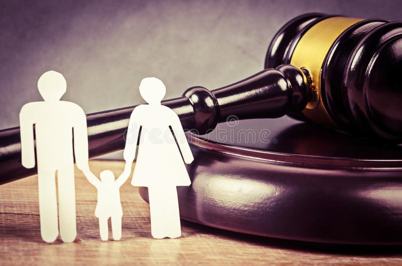 Familienrechtkonzept lizenzfreie stockbilder