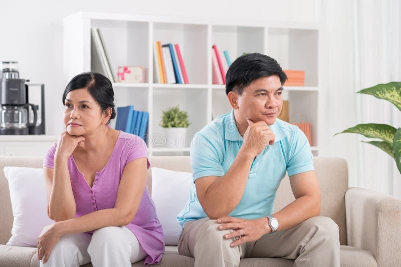 Familienschwierigkeiten stockbild