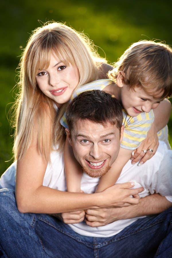 Familienspaß lizenzfreie stockfotos