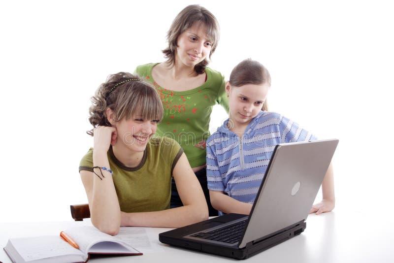 Familienstudie lizenzfreie stockbilder