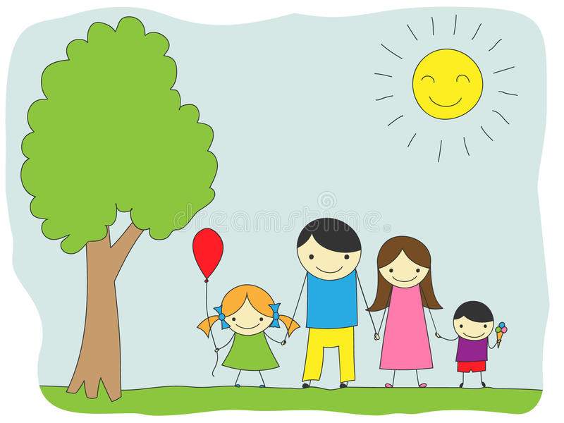 Familientag stock abbildung