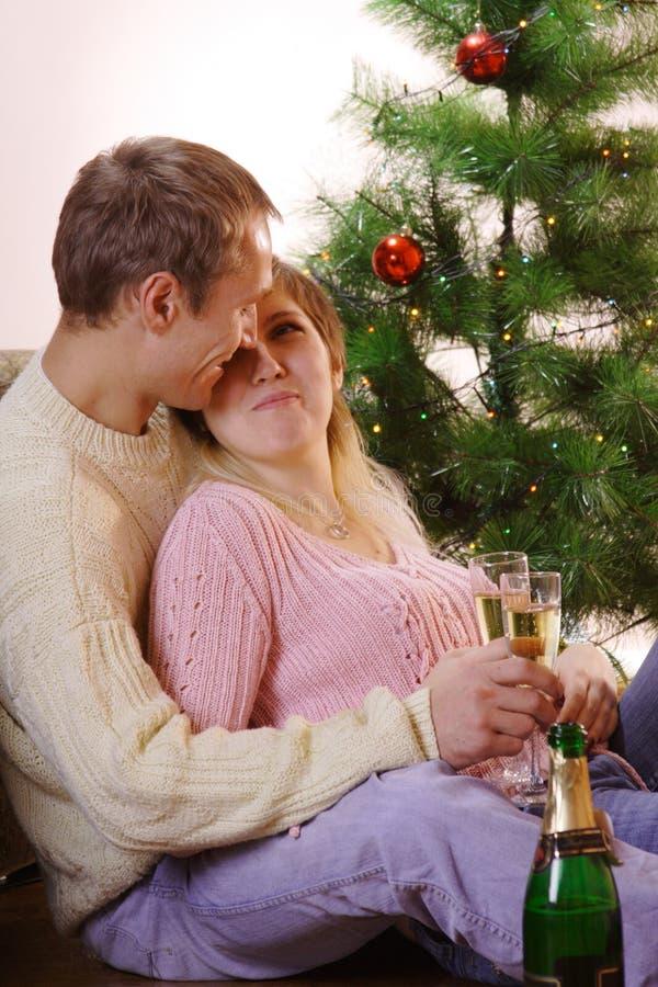 Familienweihnachten stockfotos