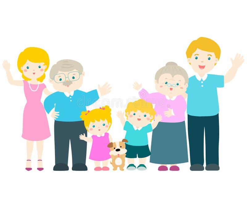 Familienzeichentrickfilm-figur stock abbildung