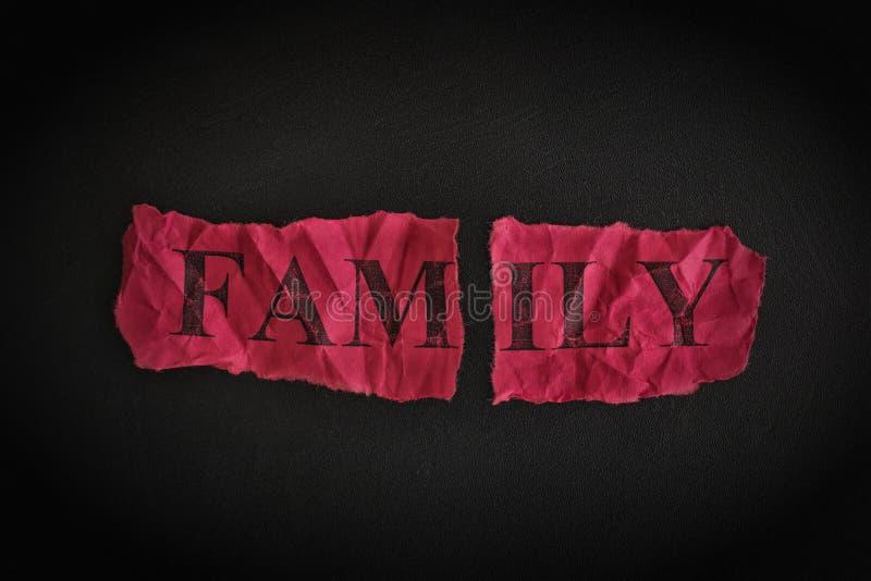 Familienzusammenbruch lizenzfreies stockfoto