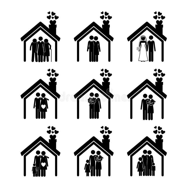 Familieontwerp vector illustratie