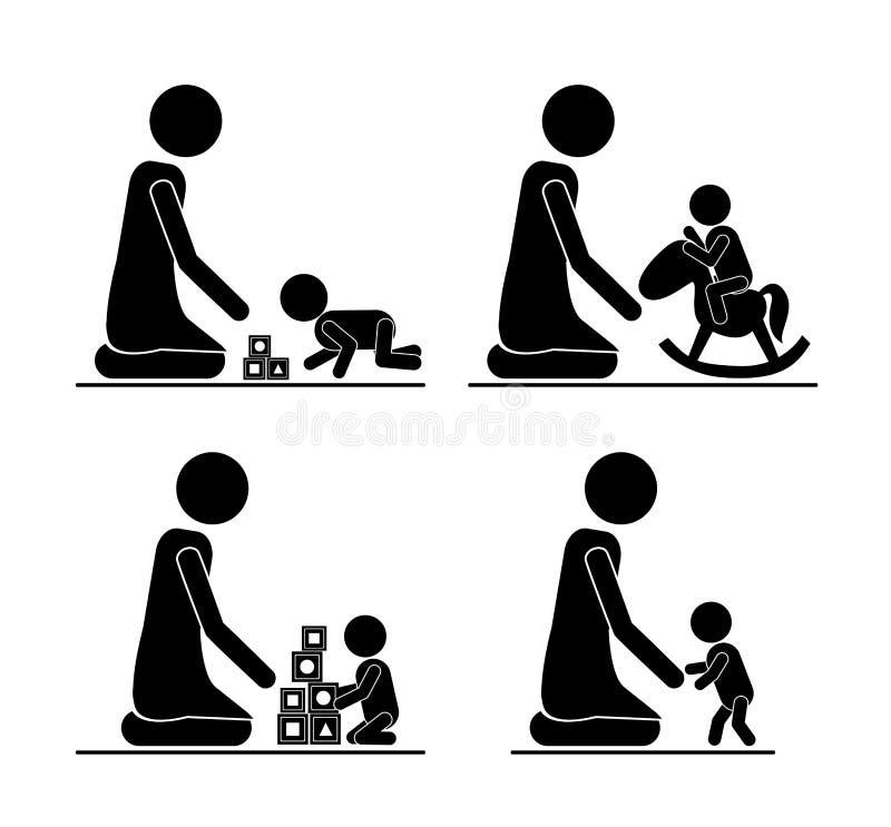 Familieontwerp royalty-vrije illustratie