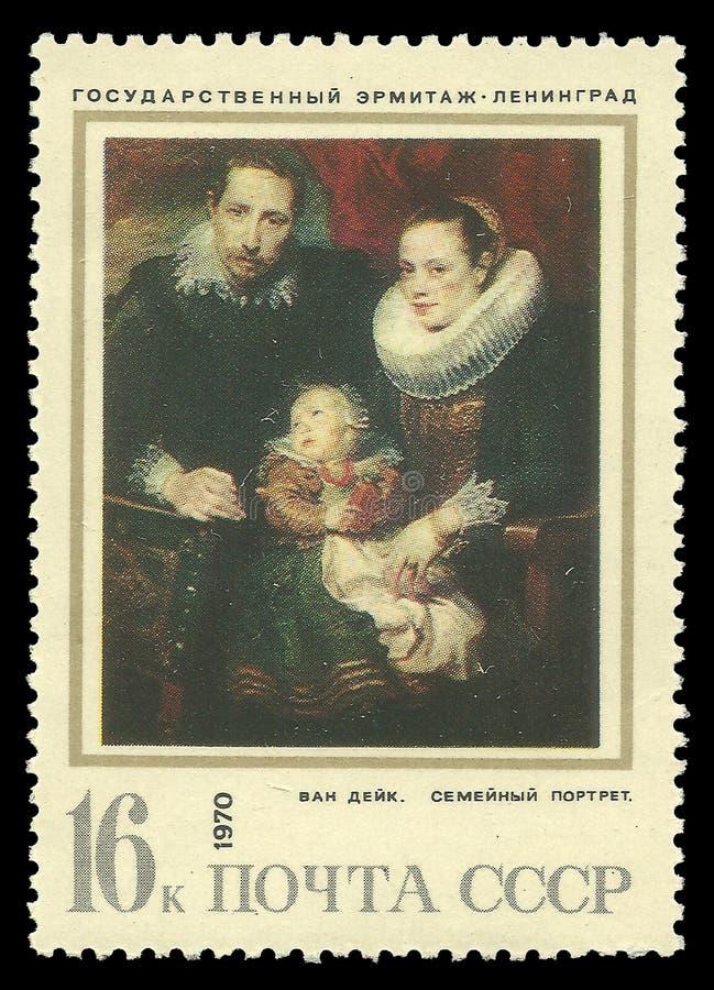 Familieportret door Van Dyck stock fotografie