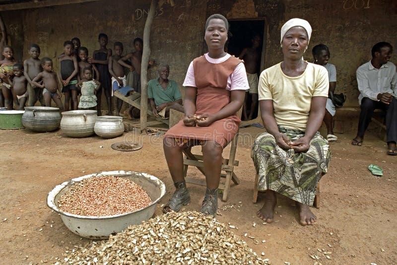 Familieportret van de moeder en het kind van Ghanian stock afbeelding