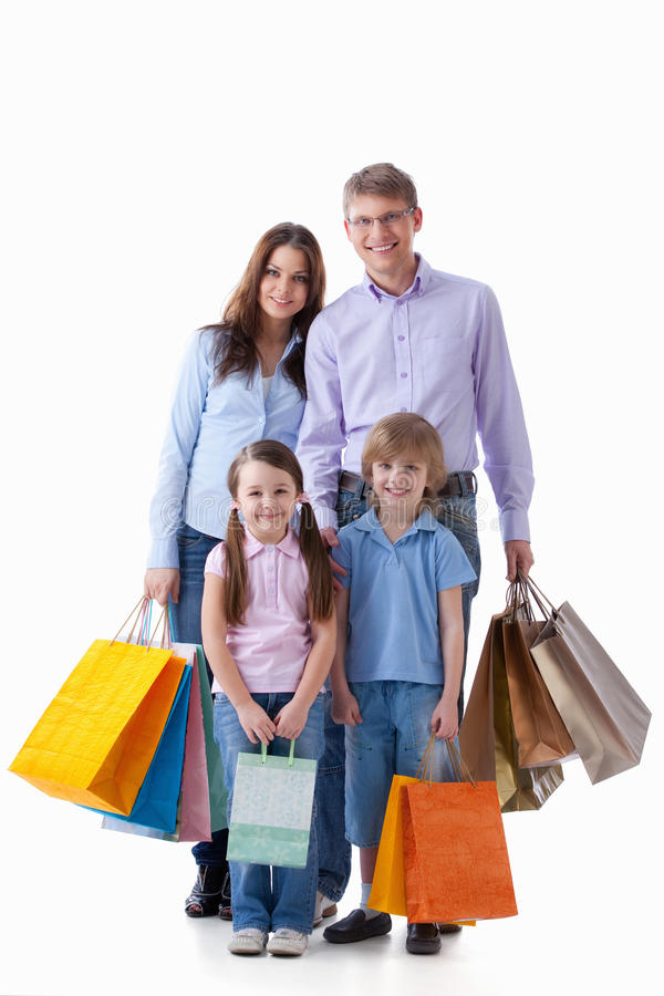 Families With Bags Stock Photos