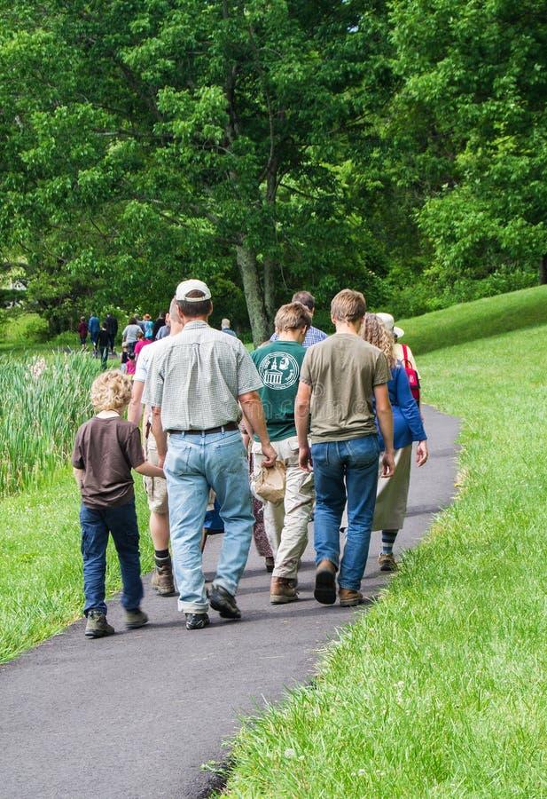 Families bij de Pieken van Otter royalty-vrije stock fotografie