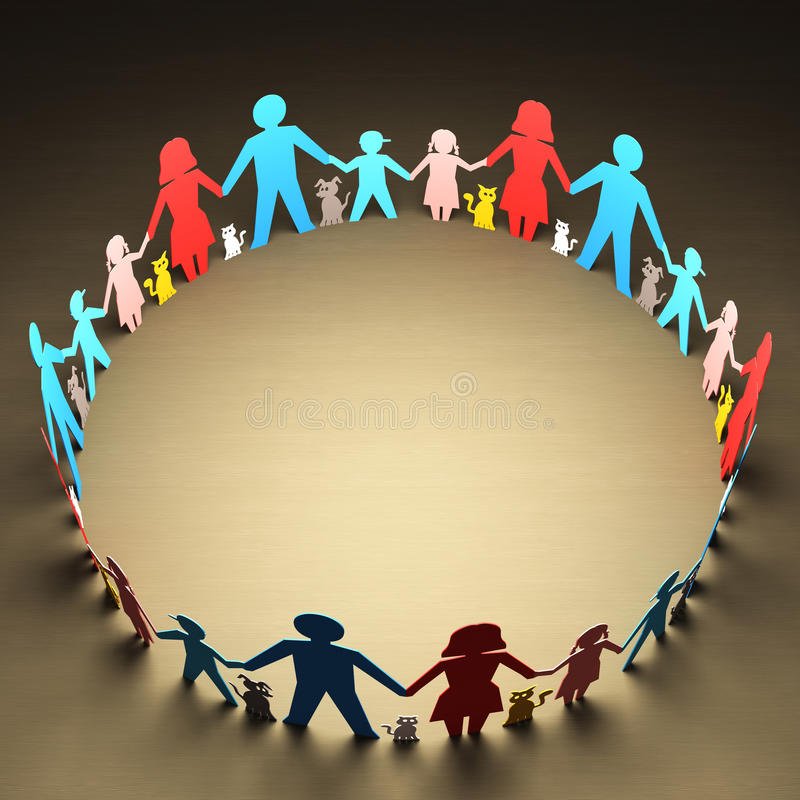 Download Families Circle stock illustration. Image of paper, home - 34162888