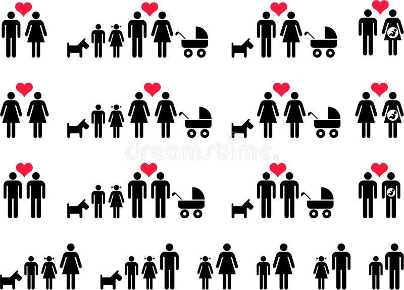 Families stock illustration
