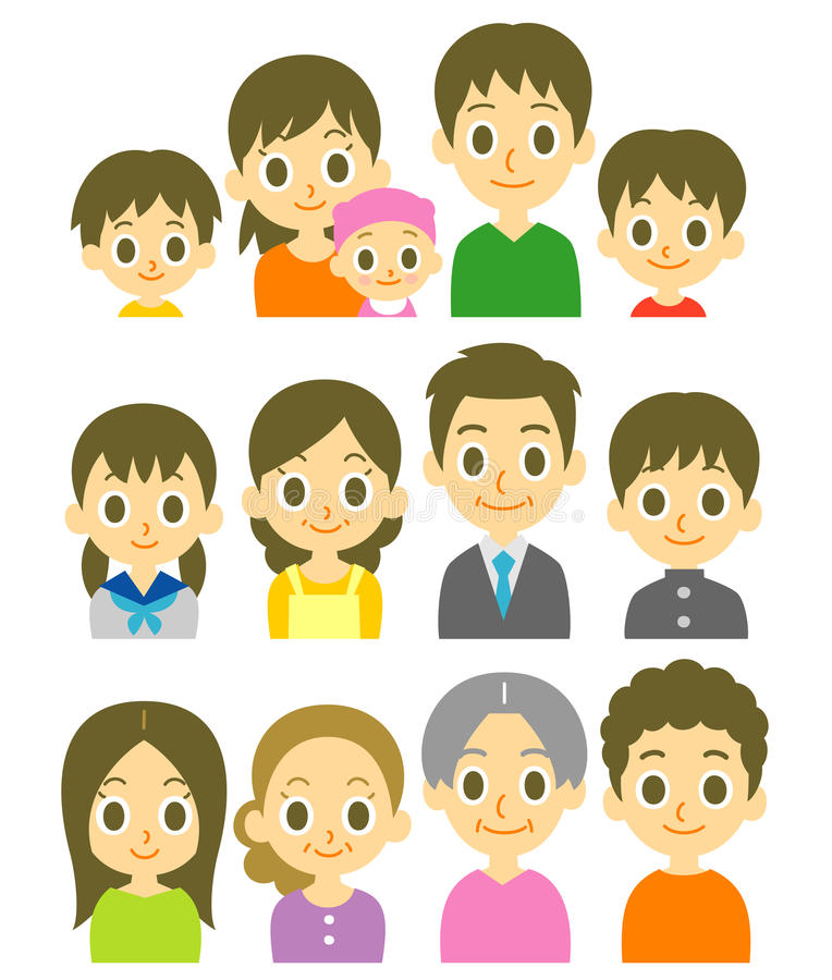 Families royalty free illustration