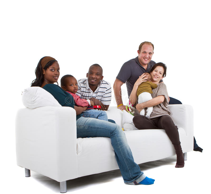 Families and friends royalty free stock photos