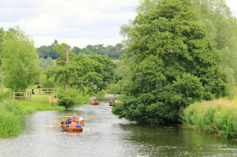 Rowing on the River Stour royalty free stock photo
