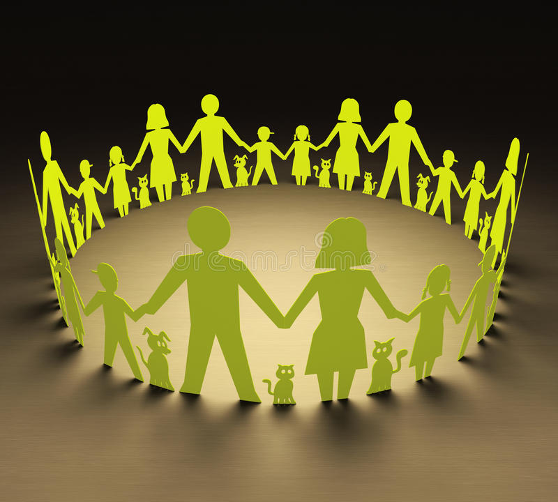 Familiescirkel royalty-vrije illustratie