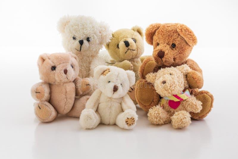 Familiy nallebjörn arkivbilder