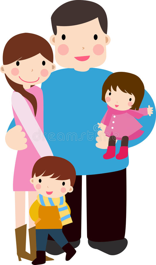 familj stock illustrationer