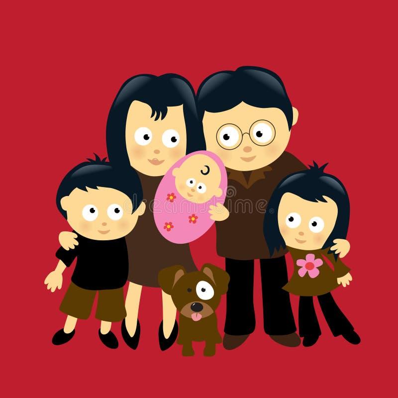 familj 4 vektor illustrationer