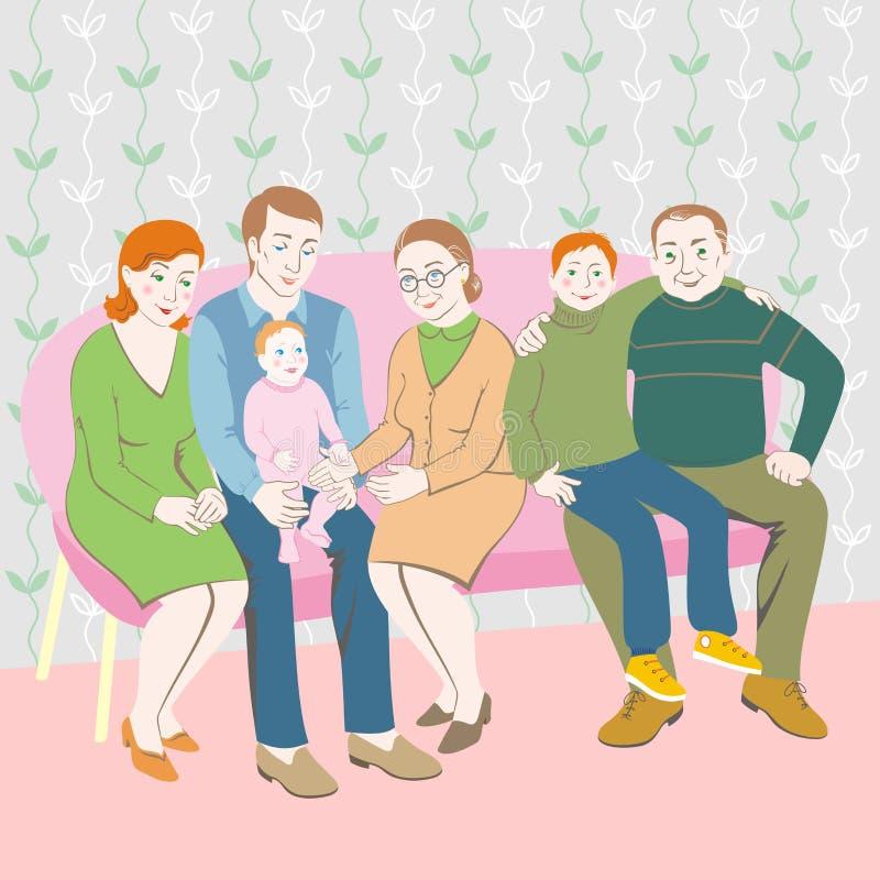 familj vektor illustrationer