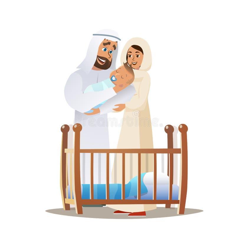 Familj för begrepp för vektortecknad filmillustration lycklig vektor illustrationer