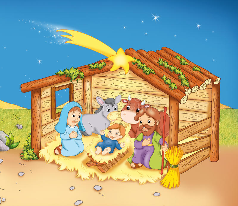 familj förlägga i barack sakralt stock illustrationer