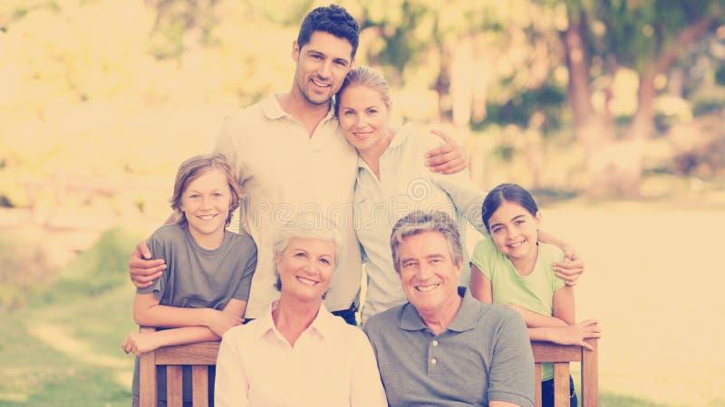 Familj i parkera royaltyfri illustrationer