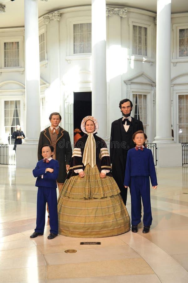 familj lincoln royaltyfria bilder