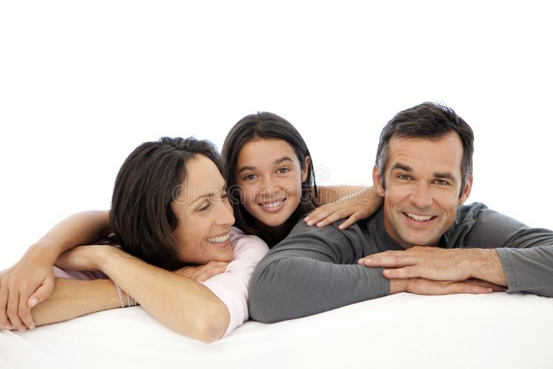 Familj med ett barn royaltyfri bild