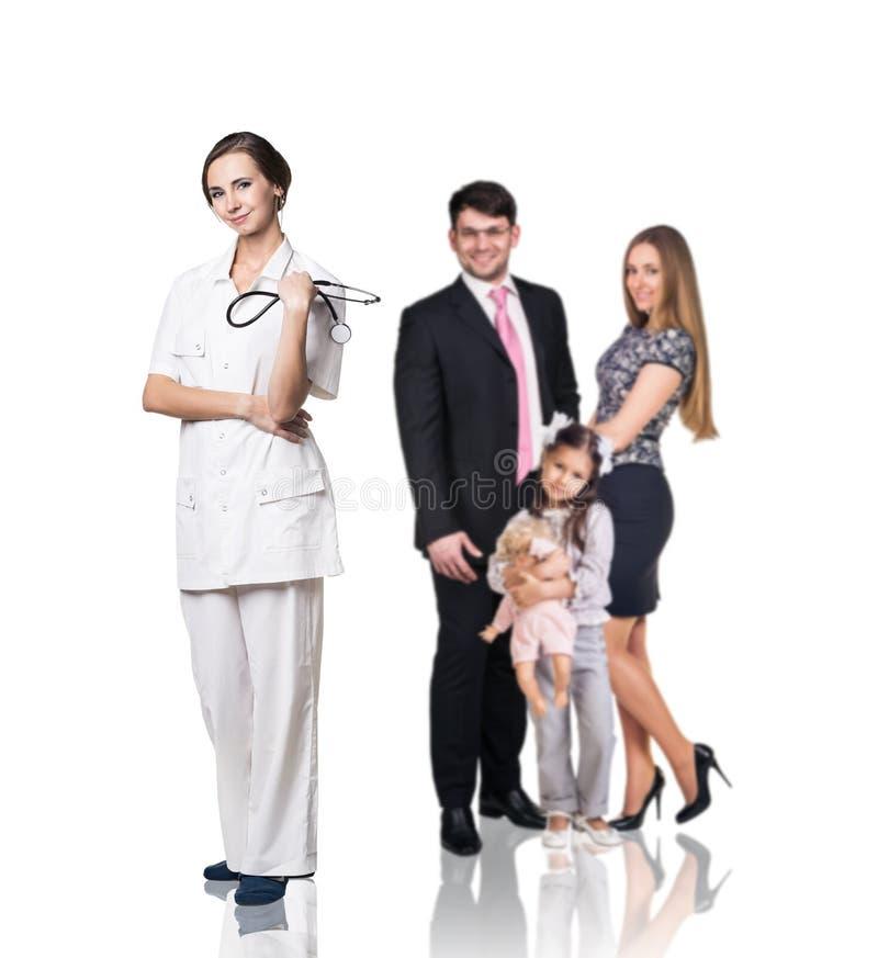 Familj på doktorstidsbeställningen royaltyfria bilder