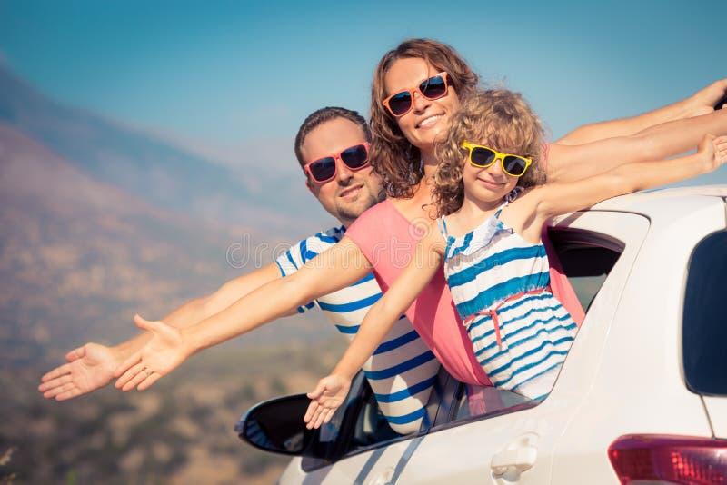 Familj på semester arkivfoton