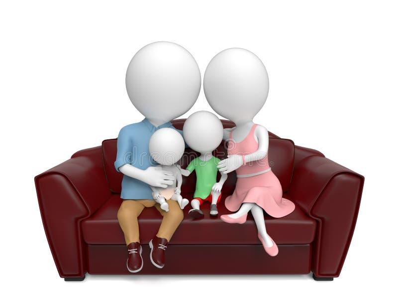 Familj på sofaen vektor illustrationer
