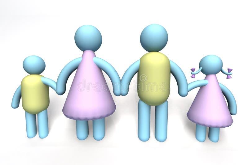 familj tillsammans stock illustrationer