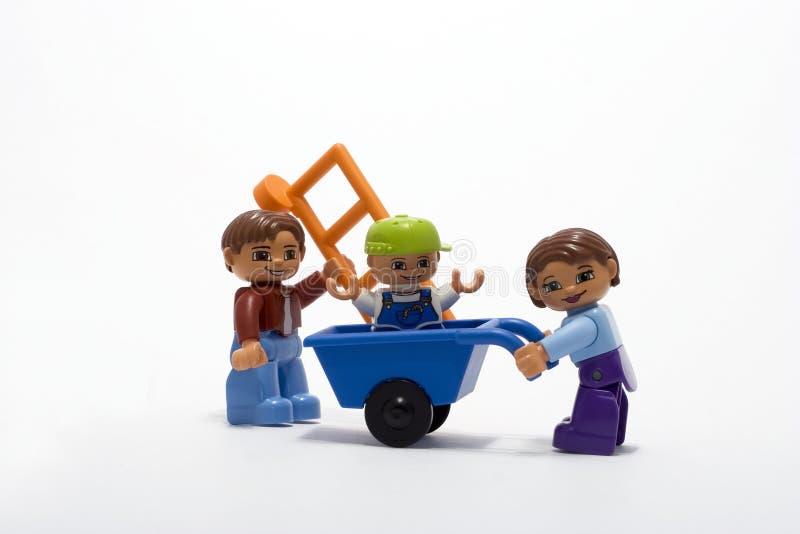 familjarbete arkivbild