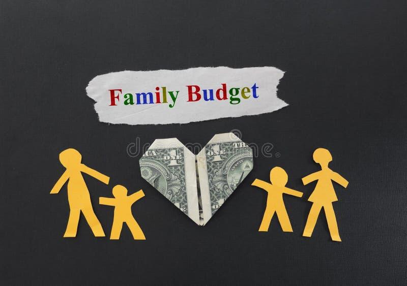Familjbudget arkivfoton