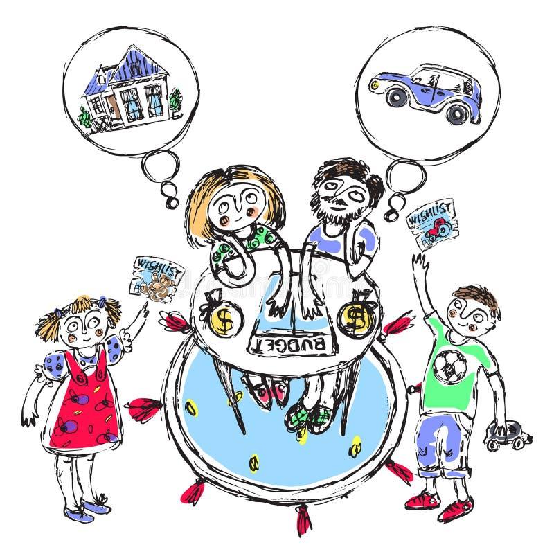 Familjbudget liknande 2 royaltyfri illustrationer