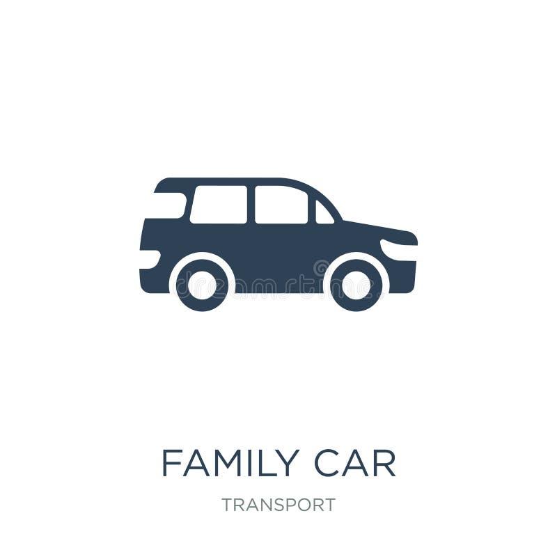 familjebilsymbol i moderiktig designstil familjebilsymbol som isoleras på vit bakgrund modern familjebilvektorsymbol som är enkel vektor illustrationer