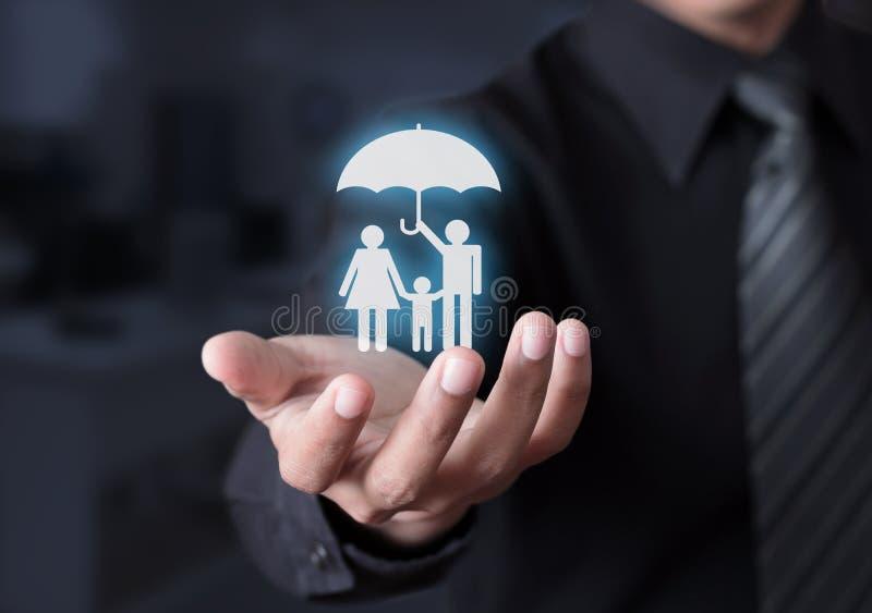 Familjelivförsäkring arkivbild
