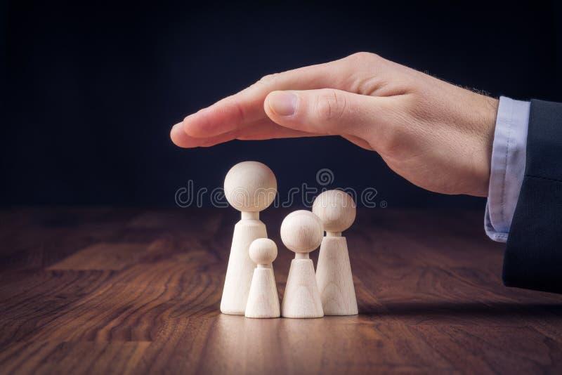 Familjelivförsäkring och politik royaltyfria bilder