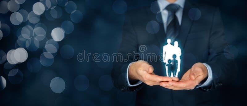 Familjelivförsäkring och politik royaltyfri bild